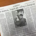 LA Times紙:エンゼルスが投手6人制の採用を決定