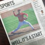 OC Register紙: なんと地元紙2紙が、全く同じ見出しに!