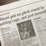 OC Register紙:打撃コーチ「オータニは練習スイング数まで数えられている」