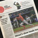 USA Today紙:オータニのショーがホームへ戻ってくる