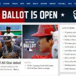 MLB公式サイト、オールスターファン投票の顔は大谷!
