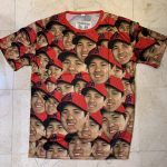 観戦記:エンゼルス史上最高に奇抜なギブアウェイ、大谷顔だらけシャツ!
