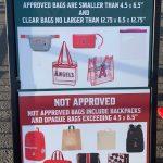 エンゼルスタジアム:バッグ類の持ち込みに大幅に制限が加わる